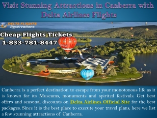 Visit Stunning Attractions in Canberra with Delta Airlines Flights
