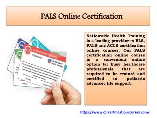 PALS Online Certification