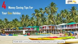 4 Money Saving Tips For Your Goa Holiday - Joescarrental