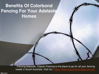 Benefits Of Colorbond Fencing For Your Adelaide Homes