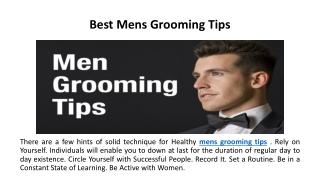 Best Mens Grooming Tips
