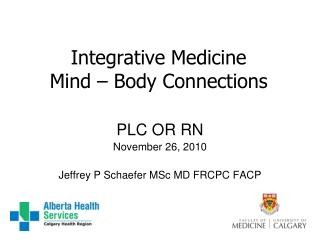 Integrative Medicine Mind – Body Connections