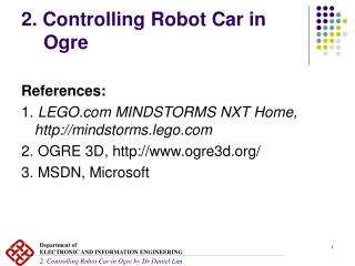 2. Controlling Robot Car in Ogre
