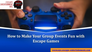 How to Make Your Group Events Fun with Escape Games