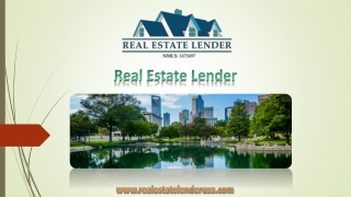 Real Estate Lender – Professional Fix and Flip Loans Provider