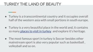 turkey the land of beauty