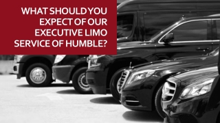 What should you expect of our executive limo service of humble