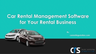 Car Rental Software Under One Roof