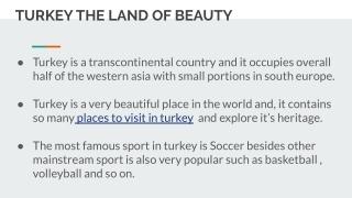 TURKEY BEAUTIFUL PLACE
