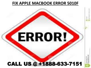 fix Apple MacBook Error 5010f