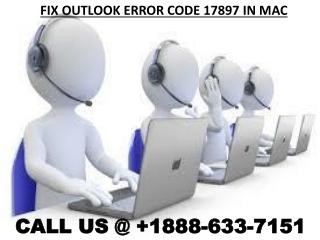 Outlook Error Code 17897