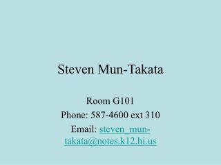 Steven Mun-Takata
