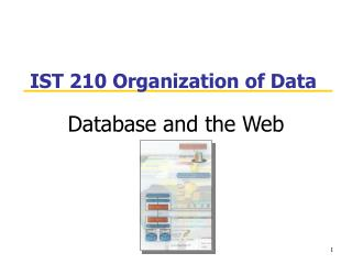 IST 210 Organization of Data