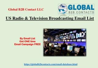 US Radio & Television Broadcasting Email List