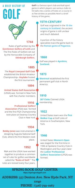 A Brief History of Golf - Spring Rock Golf Center