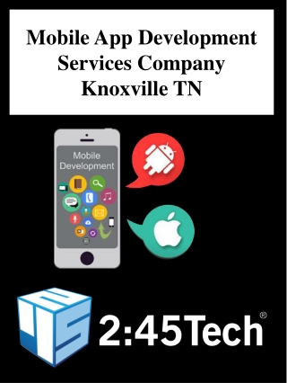 Mobile App Development Services Company Knoxville TN