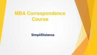 MBA Correspondence Course - SimpliDistance