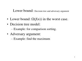 how to find lower bound