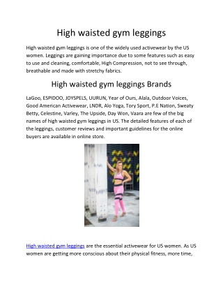 high waisted gym leggings