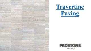 Travertine Paving