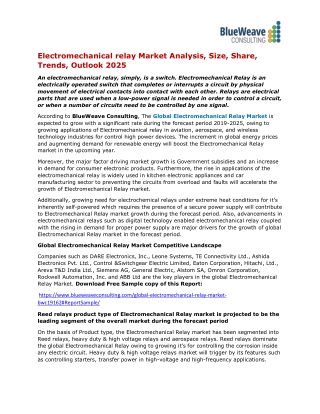 Electromechanical Relay Market Research-Report Applications, Segmentation, Size, Key-Players, Trends and Industry For