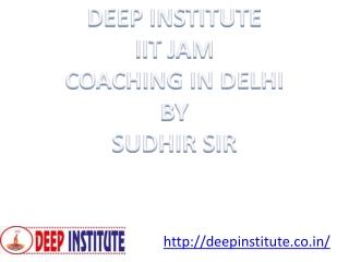 Best IIT JAM, UGC NET, IES, ISS, M.Sc., M.A Coaching Institute in Delhi, Mumbai