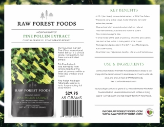 Buy Mountain Harvest Pine Pollen Extract   RAW Forest Foods