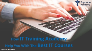 How IT Training Academy Help you With the Best IT Courses?