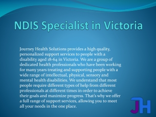 NDIS Specialist in Victoria