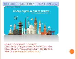 Get Cheap Flight To Nigeria From USA