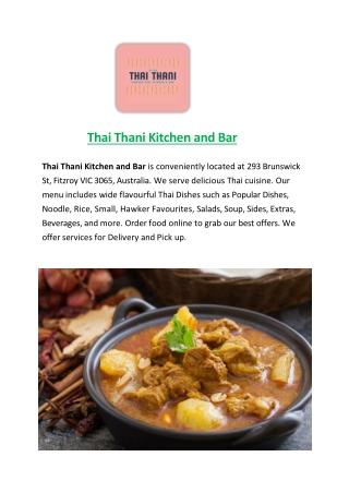 Thai Thani Kitchen and Bar-Fitzroy - Order Food Online
