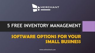 5 free inventory management software options for your small business
