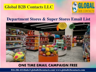 Department Stores & Super Stores Email List