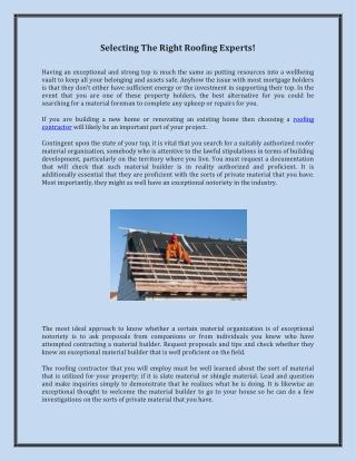 Builders Roofing | Choose Better Roofing Contractor