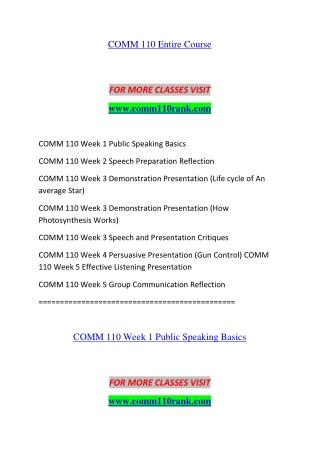 COMM 110 RANK Educa Planning--comm110rank.com