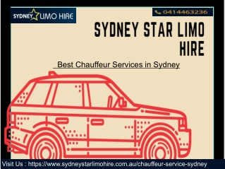 Best Chauffeur Services in Sydney