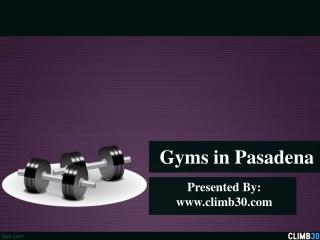 Gyms in Pasadena