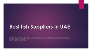 Best fish suppliers in uae