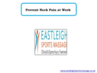 Prevent Neck Pain at Work