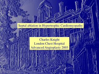Septal ablation in Hypertrophic Cardiomyopathy
