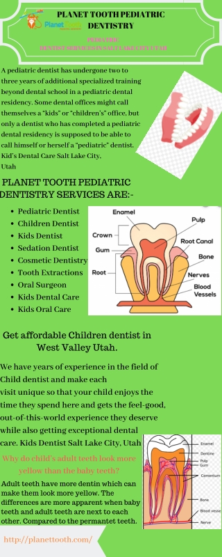 Get affordable Children dentist in West Valley Utah.