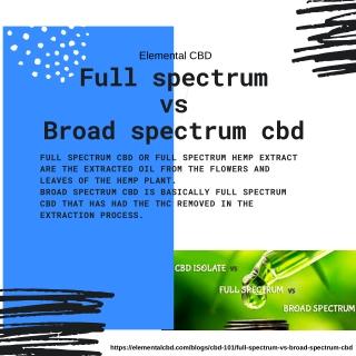 Full spectrum vs broad spectrum cbd