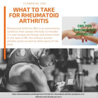 what to take for rheumatoid arthritis