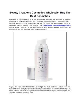 Beauty Creations Cosmetics Wholesale: Buy The Best Cosmetics