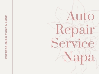 Auto Repair Service Napa
