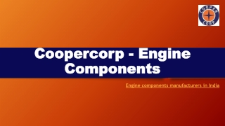 Engine components manufacturer in India