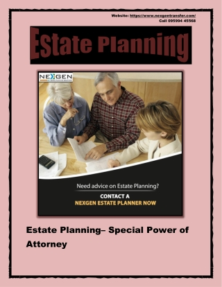 Estate Planning – Special Power of Attorney