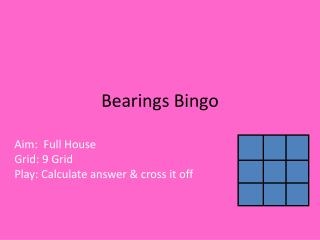 Bearings Bingo