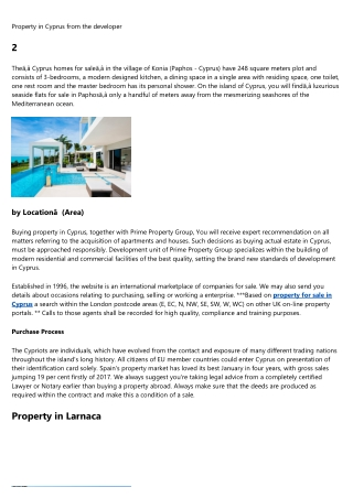 buy property in cyprus limassol - South Cyprus