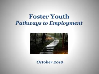 Foster Youth Pathways to Employment